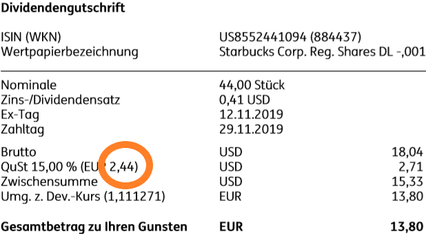Dividendenabrechnung_Starbucks-Aktie