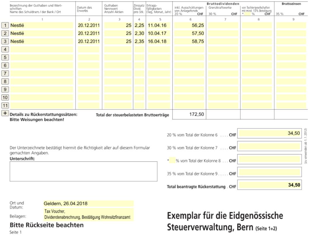 Wie Du Dir Die Quellensteuer Aus Der Schweiz Zuruckholen Kannst Marco Wenzel
